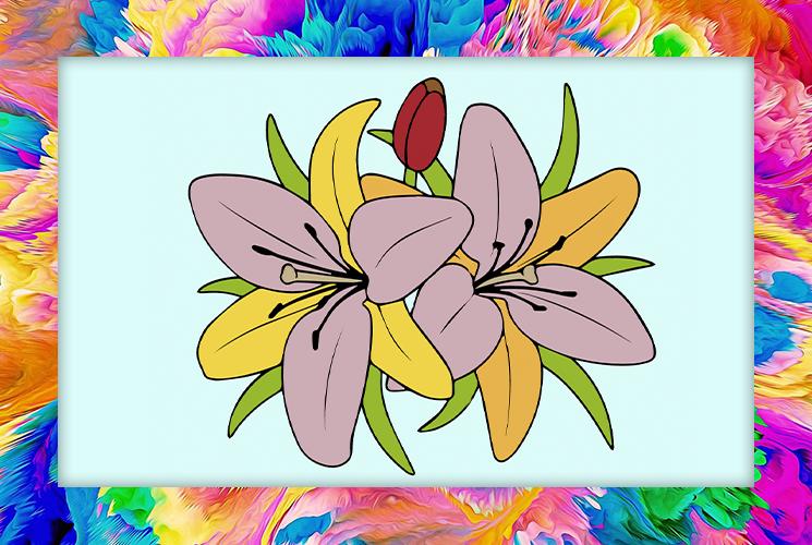 """Раскраски по номерам """"Цветы"""""""