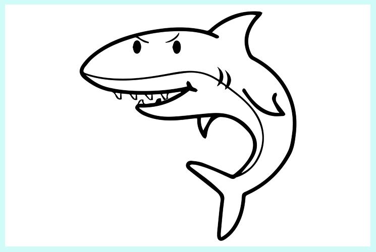 """Раскраска """"Акула"""""""