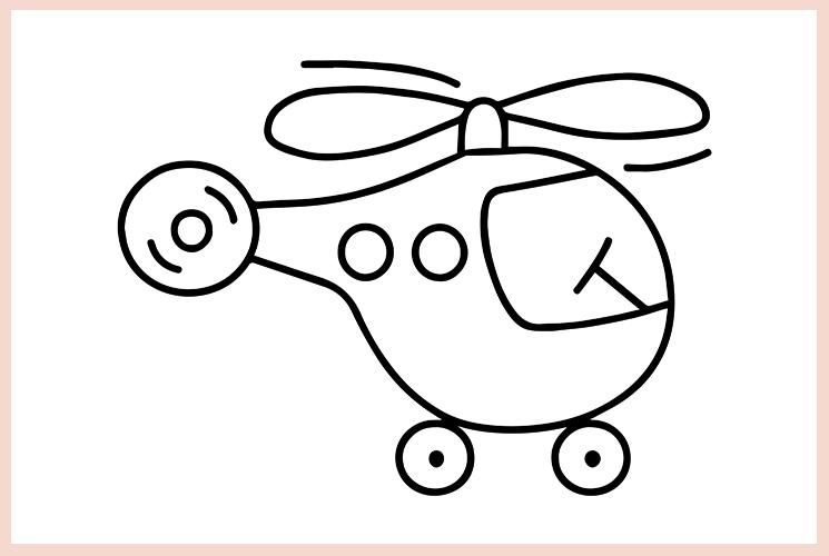 """Раскраска """"Вертолёт"""""""