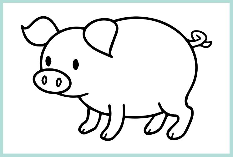 """Раскраска """"Свинка"""""""
