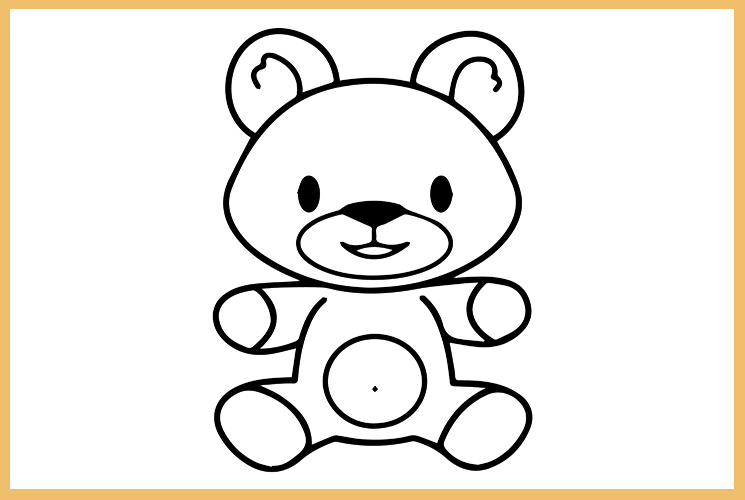 "Раскраска ""Медвежонок"""