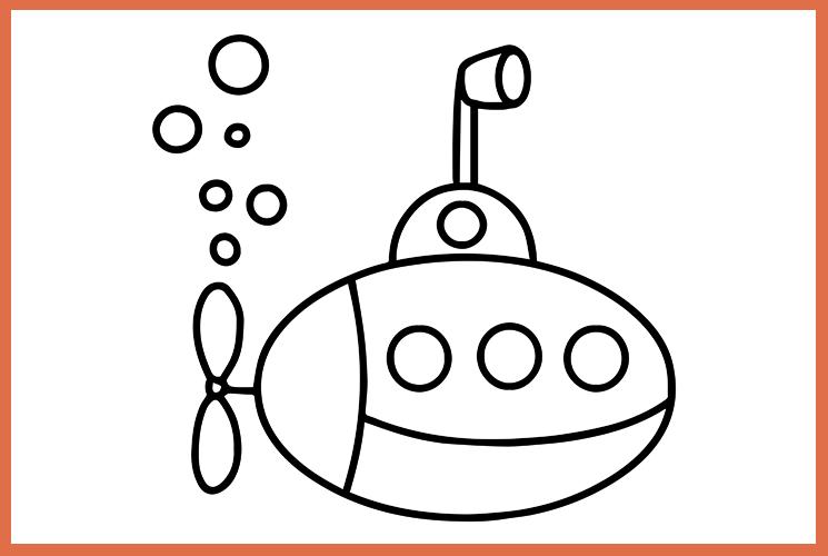 """Раскраска """"Подводная лодка"""""""