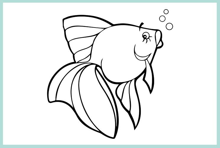 """Раскраска """"Золотая рыбка"""""""