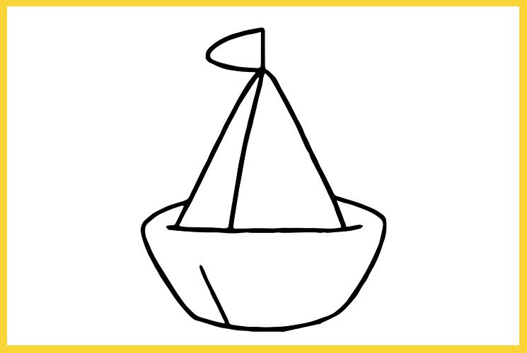 """Раскраска """"Кораблик"""""""