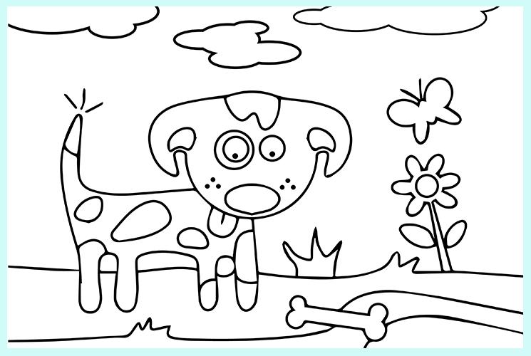 "Раскраска по номерам ""Собака"""