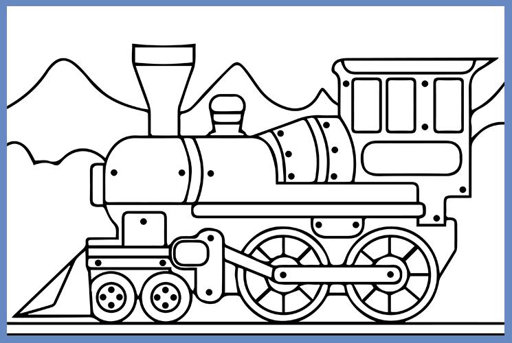 """Раскраска по номерам """"Поезд"""""""