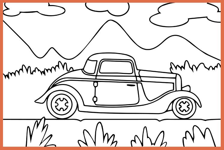 """Раскраска по номерам """"Автомобиль"""""""