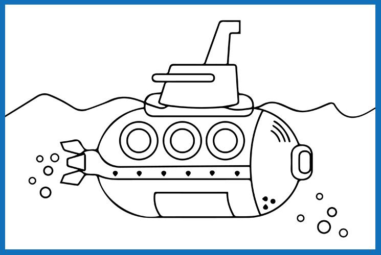 """Раскраска по номерам """"Подводная лодка"""""""
