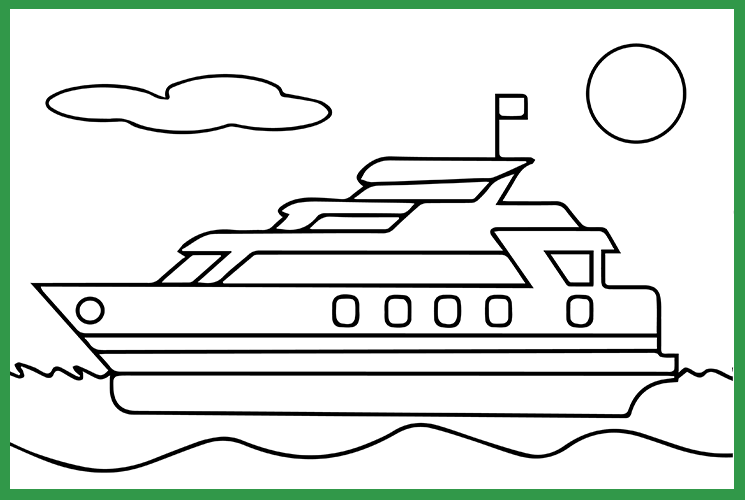 "Раскраска по номерам ""Яхта"""