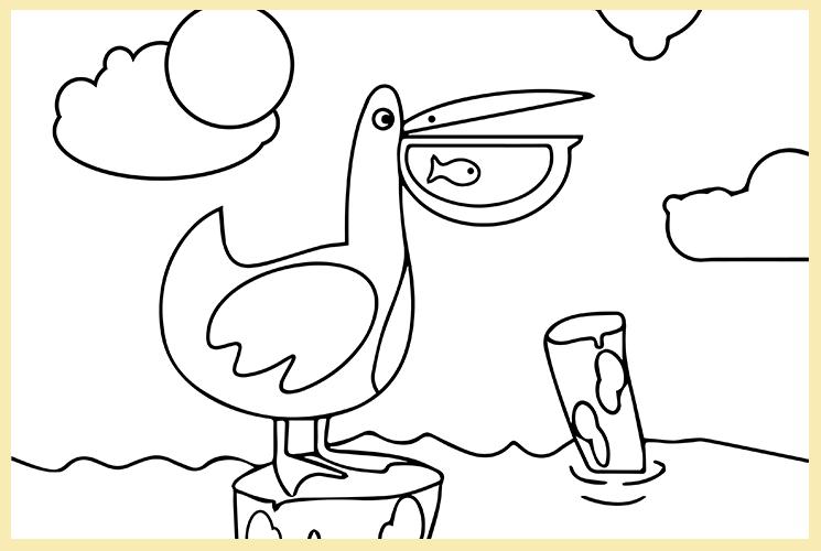 """Раскраска по номерам """"Пеликан"""""""
