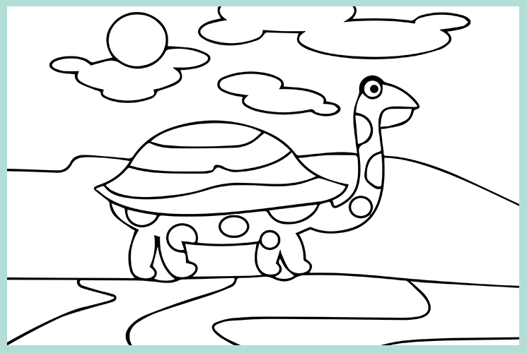 """Раскраска по номерам """"Черепаха"""""""