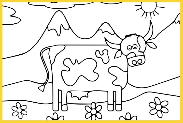 """Раскраска по номерам """"Корова"""""""