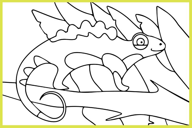 """Раскраска по номерам """"Хамелеон"""""""
