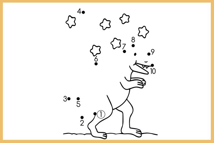"""Раскраска по точкам """"Динозавр"""""""