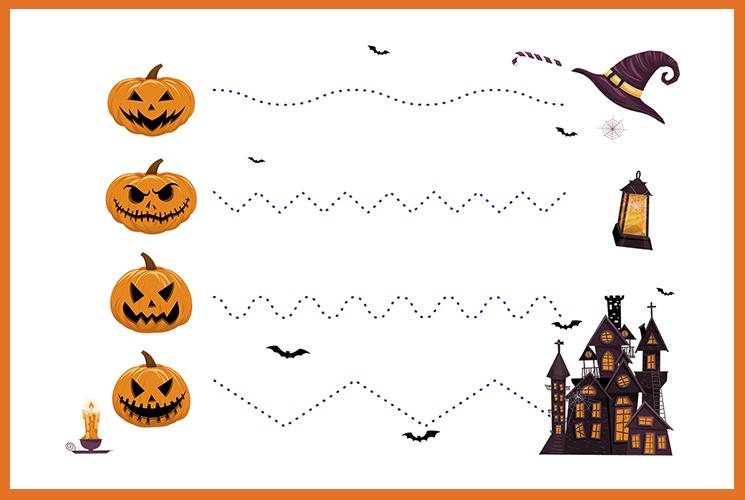 "Раскраска по точкам ""Хэллоуин"""