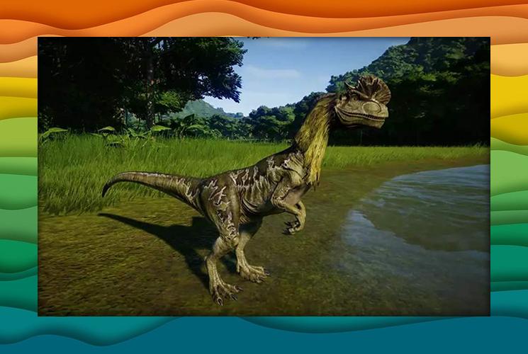 """Пазл """"Дилофозавр"""""""